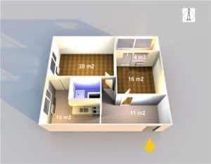 byt 2+1 64 m2